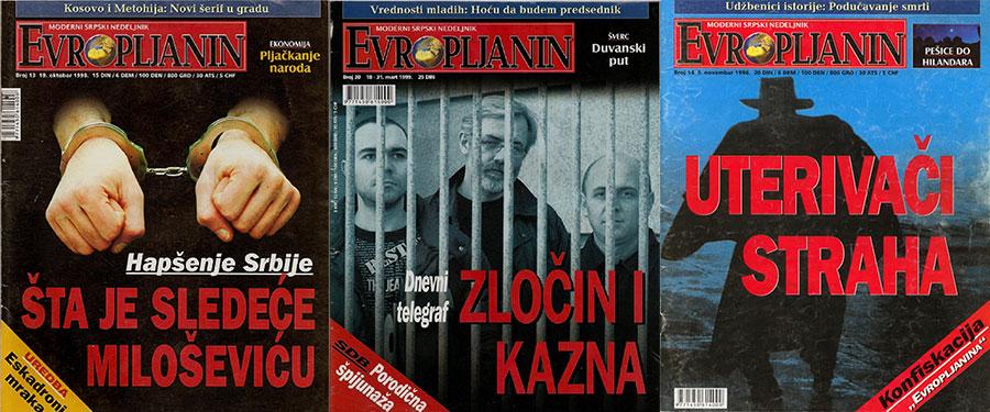 News magazine Evropljanin 1998-1999